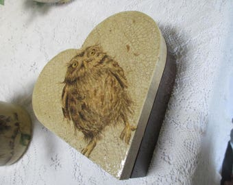 Love heart Owl box