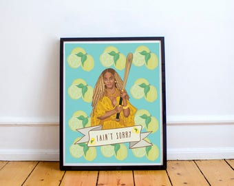 Beyonce Lemonade Print, Formation, Pop Music