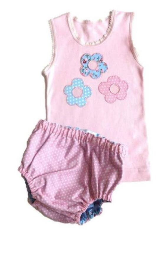Baby diaper cover set baby girl set baby shower gift flower baby diaper cover set baby girl set baby shower gift flower motif singlet and reversible diaper cover set size 6 12 mths ready to ship negle Images