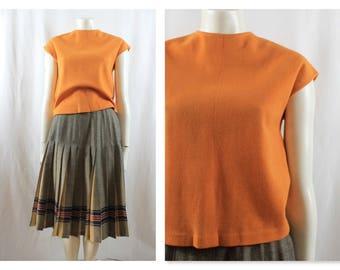 1950's/60s Butterscotch Orange Tank Jersey