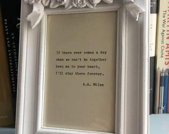 Vintage, distressed, French ornate effect picture frame to include a hand-typed quote of your choice. Mother's Day birthday wedding love