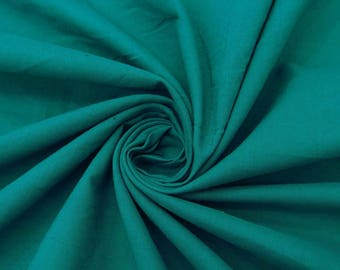 "Decorative Dressmaking Fabric, Apparel Fabric Material, Teal Green Fabric, 43"" Inch Cotton Fabric By The Yard PZBC9F"