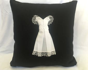 WEDDING DRESS Keepsake Pillow, Made-to-Order from BRIDE'S Upcycled Wedding Handkerchief -- Perfect Bridal Shower Gift!!