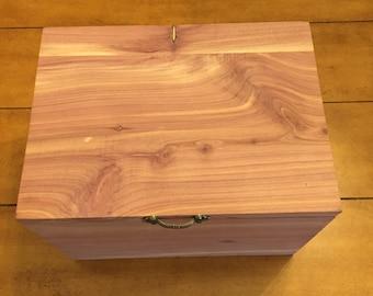 menu0027s wooden cedar handmade dresser box is one of a kind it has a hinged