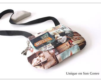 Clutch shoulder bag Route 66 one of its kind