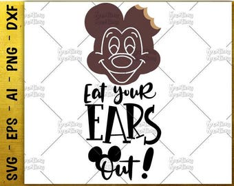 Eat your ears out! SVG Mickey ice cream SVG Disney snack svg cut cuttable cutting files Cricut Silhouette Instant Download  SVG png eps dxf