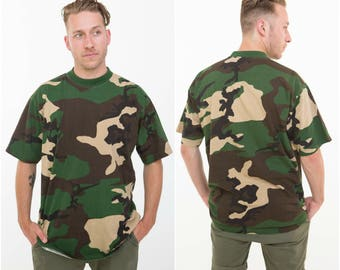 Camouflage T-shirt / Forest Greens / Size L