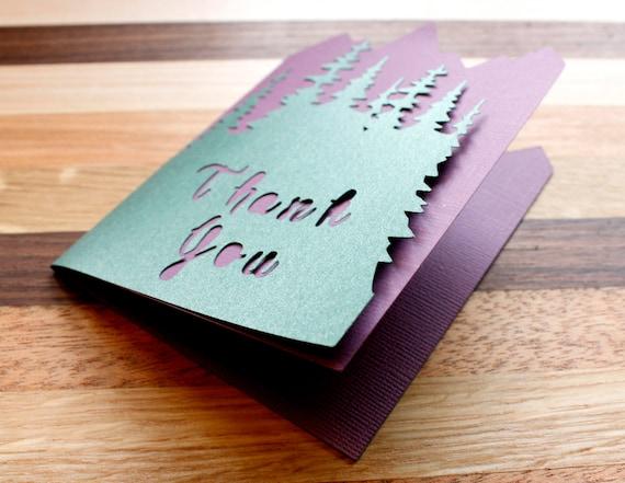Woodlands Wedding Thank You Card Set