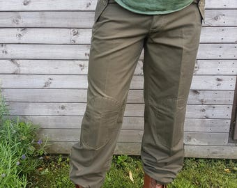 Mens Vintage Italian Army Combat Trousers