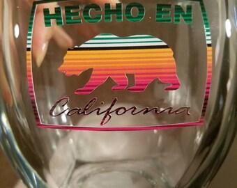 Hecho en California vinyl decal