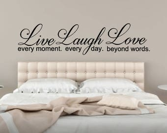 Live Every Moment Etsy - Wall decals live laugh love