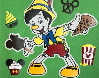 Epcot Food and Wine Festival Pinocchio Mickey Mouse Disney Inspired I Came For the Food Personalized Custom