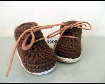 """""""baby (0-3 months)""""my first little shoes""""with two Brown"""""""