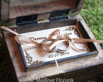 Ring Cushion/Ring box with engraving