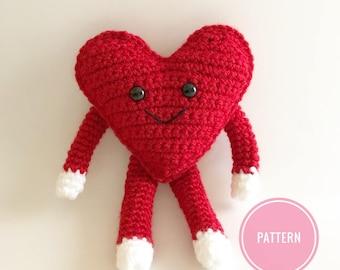 Crochet heart pattern, amigurumi heart, little crochet heart, heart pattern, crochet pattern, valentines crochet, crochet heart