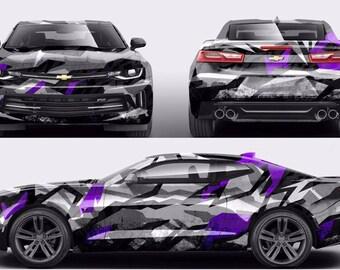 Body Wrap Car Decal Etsy - Custom vinyl car hood decalscar side and hood decal custom body vinyl sticker urban geometric