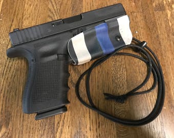 Thin Blue Line Glock 17/22, 19/23, 32 Trigger Guard Holster.