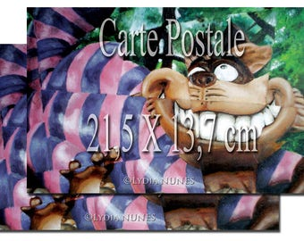 2 postcards. Cheshire Cat. Alice in Wonderland
