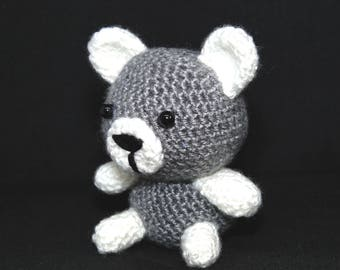 Little gray crochet bear