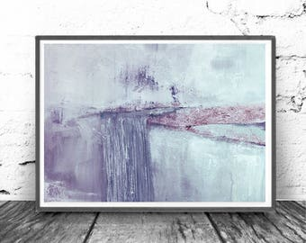 wall art abstract, Abstract Art Print, mint, violet , lilac,  Digital Download Abstract Print, Large, Abstract Printable,landscape
