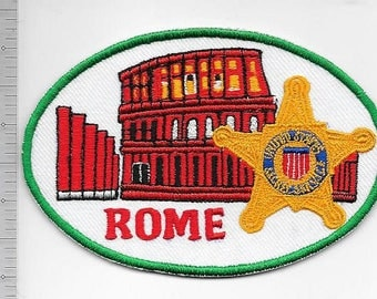 Secret Service USSS Italy Rome Field Office Electronic Crimes Task Force Service Patch type a