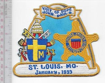 US Secret Service USSS Missouri Pope John Paul II 1999 Visit St. Louis Agent Service Patch