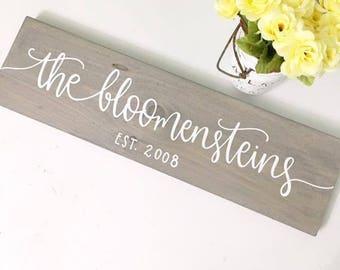 Custom Last Name Sign - Wood Sign