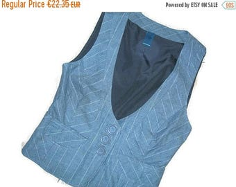 Brown Ladies Vest Cotton Size 34 ,XS Fitted Women's Vest Fitted Women's Waistcoat,Steampunk Vest
