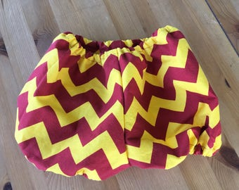 Harry Potter Inspired Red and Yellow Diaper Cover/Bloomers (Newborn, Infant, Toddler, Photo Prop)