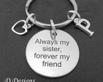 Best Sister Key Chain, Sister Keyring, Personalised Sister Keyring, Always my Sister Key Ring,  Gifts for Sisters