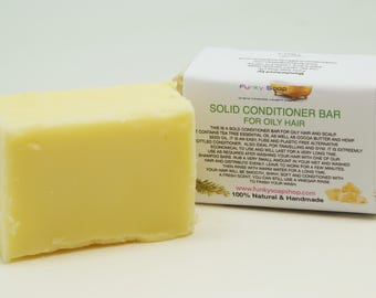 1x Solid Conditioner Bar for Oily hair, 95g, Handmade and economical