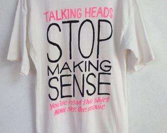 Rare Vintage Talking Heads stop making sense tshirt S