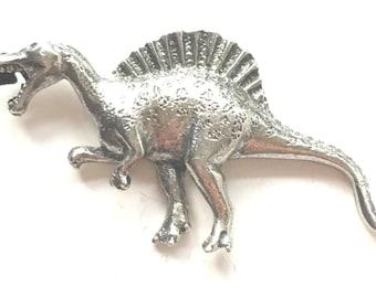 Spinosaurus Prehistoric Dinosaur Pewter Lapel Pin Badge