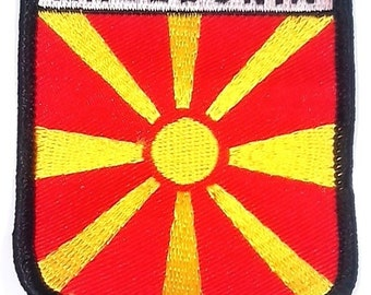 Macedonia Embroidered Patch