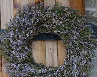 Heather wreath Wedding decor Purple heather wreath Natural wreath Handmade wreath Door decor Door wreath Hanging wreath