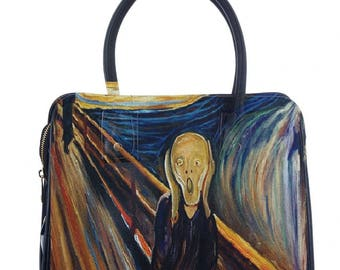 Bag faux leather Munch-the scream