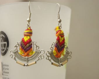 Earrings ethnic style.