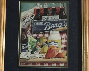 Blue Plate Mayonaise Barq's and A Tomato Sandwich Limited Editon by Sylvia Corban Lithograph Print Signed and Numbered 749/1100