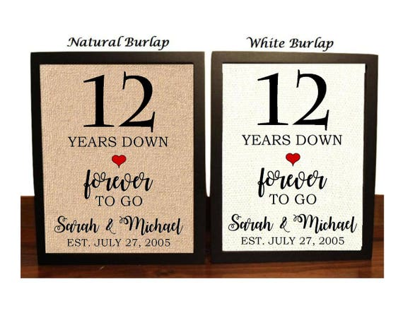 12 Months Of Dates Wedding Gift: 12th Anniversary Gift 12th Wedding Anniversary Gift Gift