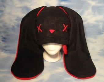 Red Zombie Bunny Hat Rabbit X Dead Tongue Ears Beanie