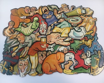 Vintage Jumble-Fits Puzzle No. 2 - Figments, Cadaco Game, Cluster Puzzle