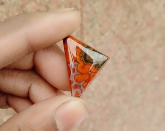 Warm sell 19ct Morocco Agate Natural Gemstone Super Quality AAA+++  Cabochon , Smooth, Triangle Shape, 27x17x5mm Size, AM326