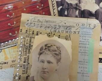 Set of 3 Altered Vintage Pocket Folders
