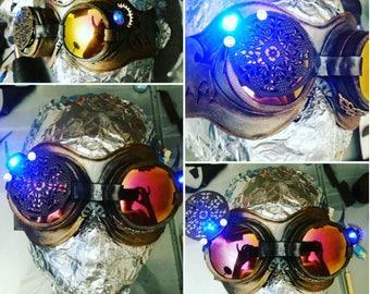 Googles steampunk light steampunk goggles