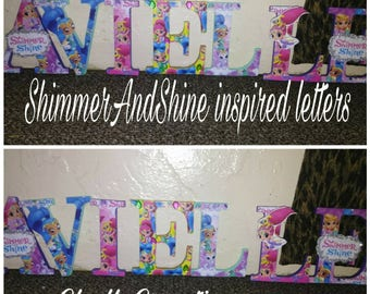5in Shimmer and Shine letters