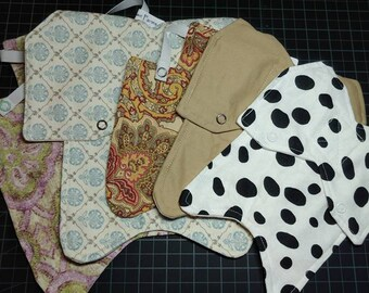 5 Variety Size and Design Chicken Saddle/Apron  (4)
