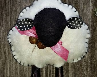 Folk Art Sheep Ornament