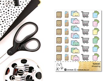 Kawaii Shopping Sticker II Planner Sticker II