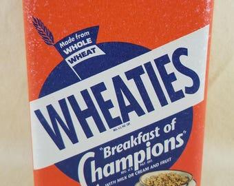 Wheaties Box ~ Cereal Tin ~ Breakfast of Champions ~ Metal Container ~ Retro Kitchen Decor ~ Decorative Box ~ Seths Vintage Emporium