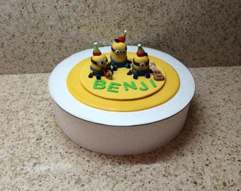 Edible Minion Birthday Cake Topper
